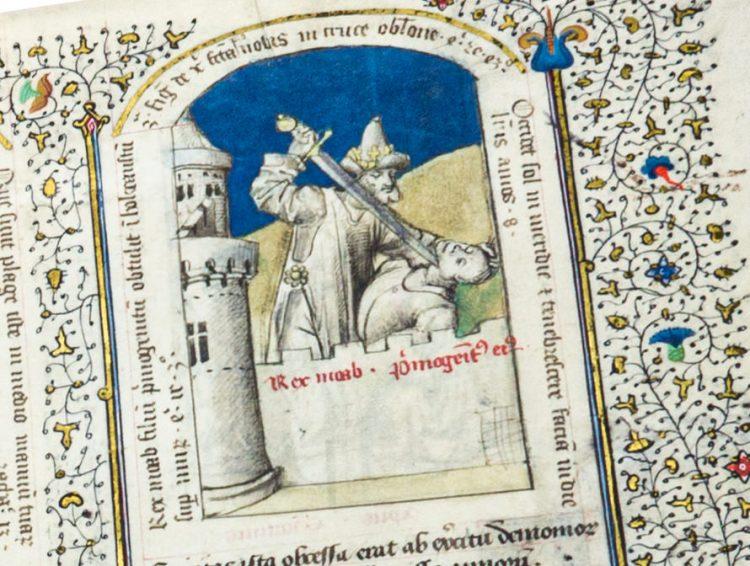 Detail of the Speculum Humanae Salvationis in Einsiedeln by Quaternio Verlag