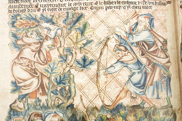 Detail of the Holkham Bible