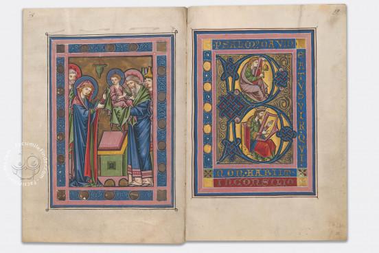 Rheinauer Psalter, Zürich, Zentralbibliothek Zürich, Ms. Rh. 167 − Photo 1