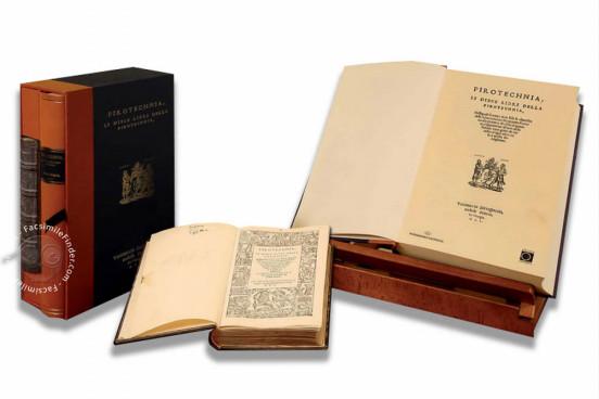 De la Pirotechnia - Second Edition, San Lorenzo de El Escorial, Real Biblioteca del Monasterio de El Escorial, RBME Mª 8-II-3 − Photo 1