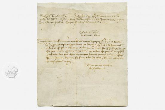 Matxin de Zalba's Letter - 1416, Navarra, Archivo Real y General de Navarra, Comptos, Registro 339, f. 109 − Photo 1