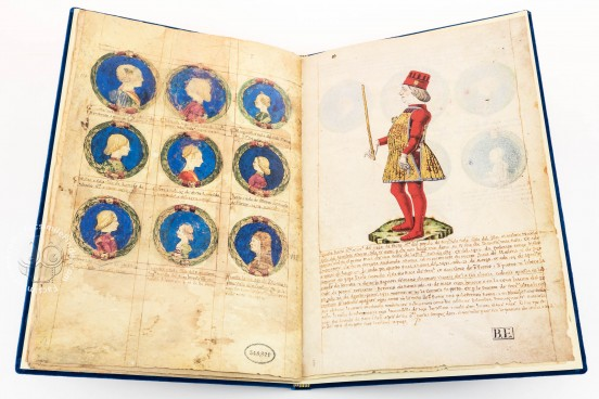 Genealogy of the d'Este Princes, Modena, Biblioteca Estense Universitaria, a.L.5.16 = Ital. 720 Rome, Biblioteca Nazionale Centrale, Fondo Vitt. Emanuele n. 293, cc. i-8-ii − Photo 1