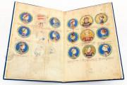 Genealogy of the d'Este Princes, Modena, Biblioteca Estense Universitaria, a.L.5.16 = Ital. 720 Rome, Biblioteca Nazionale Centrale, Fondo Vitt. Emanuele n. 293, cc. i-8-ii − Photo 5