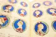 Genealogy of the d'Este Princes, Modena, Biblioteca Estense Universitaria, a.L.5.16 = Ital. 720 Rome, Biblioteca Nazionale Centrale, Fondo Vitt. Emanuele n. 293, cc. i-8-ii − Photo 7