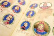 Genealogy of the d'Este Princes, Modena, Biblioteca Estense Universitaria, a.L.5.16 = Ital. 720 Rome, Biblioteca Nazionale Centrale, Fondo Vitt. Emanuele n. 293, cc. i-8-ii − Photo 12