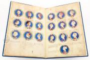 Genealogy of the d'Este Princes, Modena, Biblioteca Estense Universitaria, a.L.5.16 = Ital. 720 Rome, Biblioteca Nazionale Centrale, Fondo Vitt. Emanuele n. 293, cc. i-8-ii − Photo 14