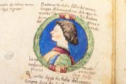 Genealogy of the d'Este Princes, Modena, Biblioteca Estense Universitaria, a.L.5.16 = Ital. 720 Rome, Biblioteca Nazionale Centrale, Fondo Vitt. Emanuele n. 293, cc. i-8-ii − Photo 15