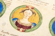 Genealogy of the d'Este Princes, Modena, Biblioteca Estense Universitaria, a.L.5.16 = Ital. 720 Rome, Biblioteca Nazionale Centrale, Fondo Vitt. Emanuele n. 293, cc. i-8-ii − Photo 17