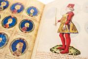 Genealogy of the d'Este Princes, Modena, Biblioteca Estense Universitaria, a.L.5.16 = Ital. 720 Rome, Biblioteca Nazionale Centrale, Fondo Vitt. Emanuele n. 293, cc. i-8-ii − Photo 18