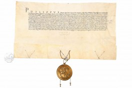Oath of Loyalty sworn to Pope Paul IV by Philip II on his investiture as King of Sicily Facsimile Edition
