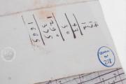 Seven musical scores belonging to Isabelle de Valois , Simancas, Archivo General de Simancas, Leg. 394, fol. 130 − Photo 13