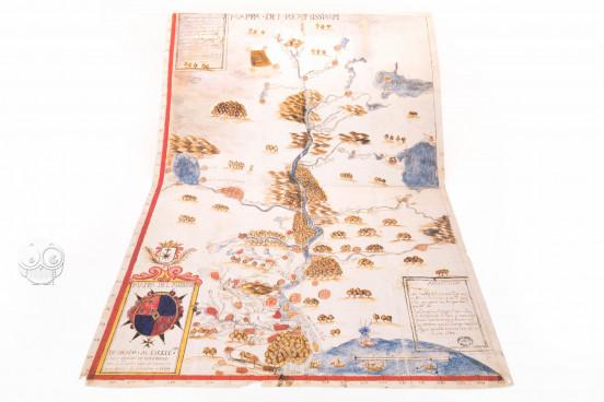 Map of the Mississippi, Seville, Archivo General de Indias, M.P., Florida y Luisiana, 29. Leg. Indiferente Gral. 1530 − Photo 1