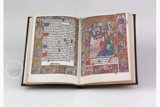 Incunabular Book of Hours in Latin and French Illuminated for the Condotiere Ferrante d'Este illuminated manuscript facsimile − Photo 1