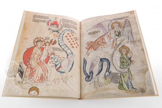 Biblia Pauperum: Apocalypsis: The Weimar Manuscript , Weimar, Herzogin Anna Amalia Bibliothek, Cod. Fol. max. 4 − Photo 1