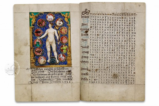 Kalendar von 1526, Ms. germ. oct. 9 - Staatsbibliothek Preussischer Kulturbesitz (Berlin, Germany) − Photo 1