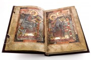 Godescalc Evangelistary, Ms. Nouv. acq. lat. 1203 - Bibliothèque Nationale de France (Paris, France), Real leather binding with Charlemagne monogram