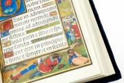Munich-Montserrat Hours Ms. 53 › Biblioteca de la Abadía (Montserrat, Spain) Ms. Lat. 23638 › Bayerische Staatsbibliothek (Munich, Germany) Ms. 3 (84.ML.83) › Getty Museum (Los Angeles, USA) Resting in the borders