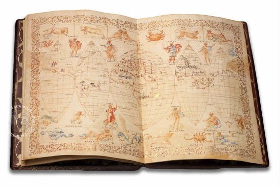 Francesco Ghisolfo Nautical Atlas, Florence, Biblioteca Riccardiana, Ricc. 3615 − Photo 1