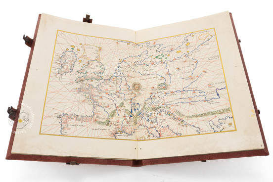 Mappa Mundi 1457 and Nautic Atlas of Battista Agnese, Portolano 1 - Banco Rari 32 - Biblioteca Nazionale Centrale di Firenze (Florence, Italy) − Photo 1