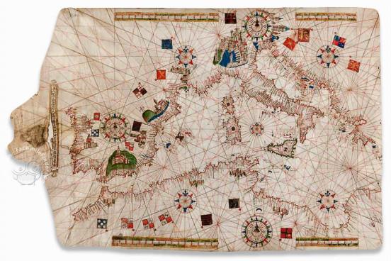 Portolan Chart by Salvat de Pilestrina, Toledo, Biblioteca de Castilla-La Mancha − Photo 1