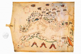 Navigational Map of Mediterranean Sea Facsimile Edition
