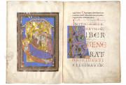 The Passau Evangelary, Munich, Bayerische Staatsbibliothek, Clm 16002, Passau Evangelary - f. 37v-38r (Birth of Maria)