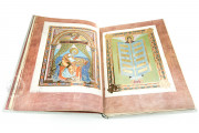 Codex Aureus of Echternach, Nuremberg, Germanisches Nationalmuseum, Hs. 156142, The Cork Lining Edition features a leather box with cork lining framing the reroduction of the 10th century ivory binding